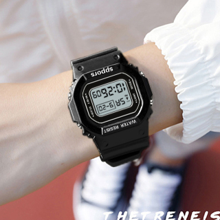 Đồng hồ thể thao nữ Shhors SPPORS mặt chữ nhật dây cao su size 36x32mm thumbnail