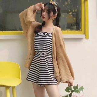 Áo khoác Cadigan nữ - Áo khoác len dệt mỏng phong cách Hàn Quốc hàng loại 1- mix đồ đi biển đi chơi,dự tiệc cực chất thumbnail