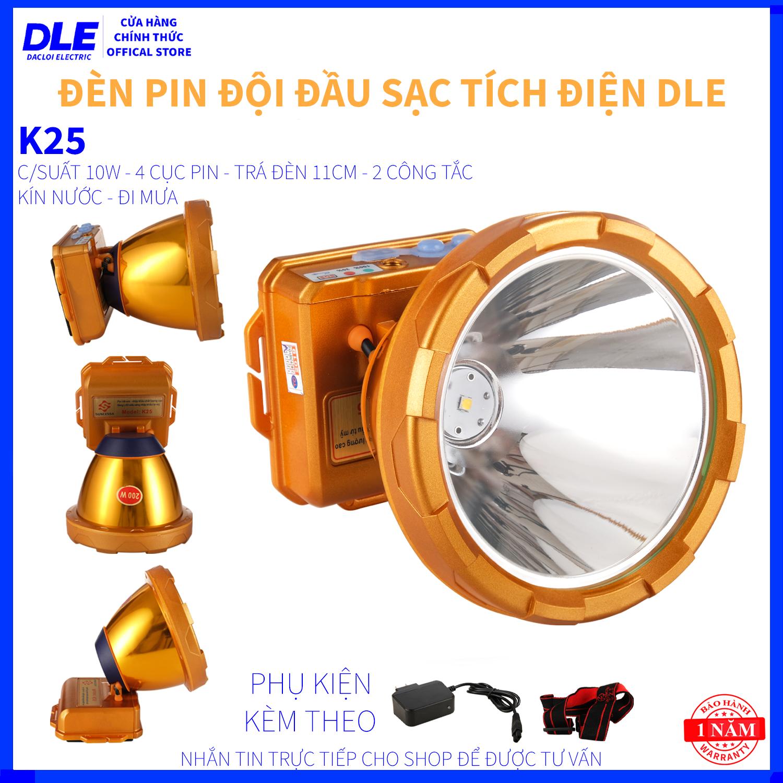 ĐÈN PIN ĐỘI ĐẦU K25 - NHẬP KHẨU THÁI LAN - 3 CỤC PIN - CHỐNG NƯỚC - ĐI MƯA  - CHIẾU XA 1000 MÉT