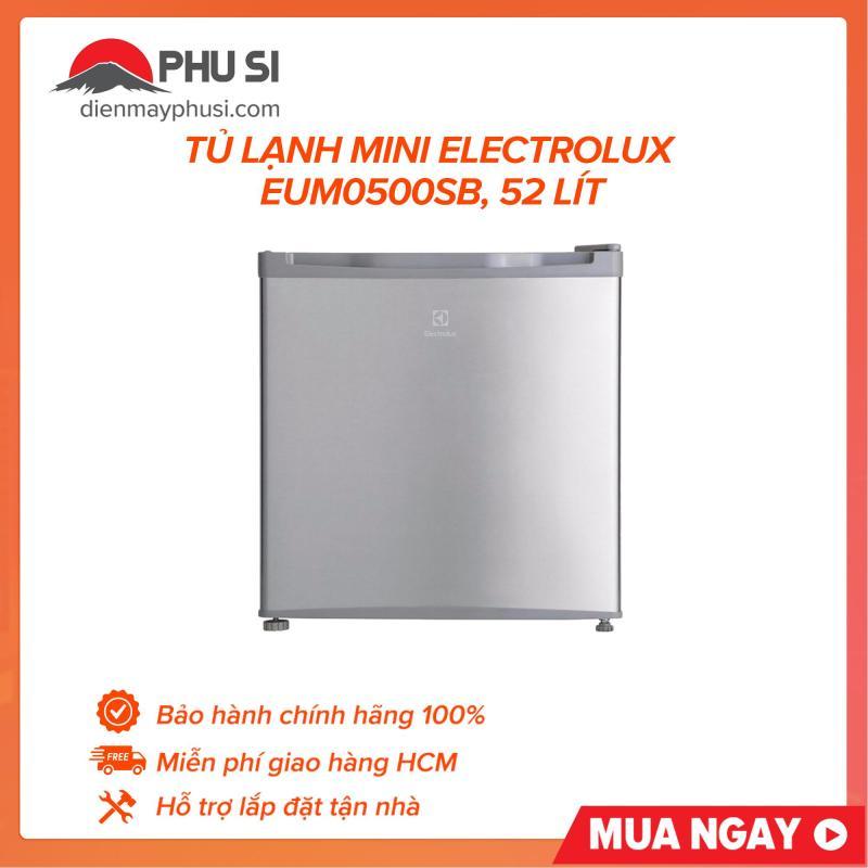 Tủ lạnh mini Electrolux EUM0500SB, 52 lít