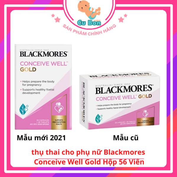 Viên uống tăng khả năng thụ thai cho phụ nữ Blackmores Conceive Well Gold Hộp 56 Viên, Úc nhập khẩu