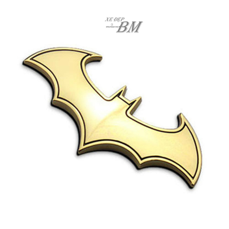 Hình dán biểu tượng người dơi bằng kim loại
