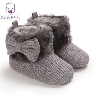 XENBEA Bốt Bé Trai Bé Gái, Giày Giữ Ấm Cho Trẻ Sơ Sinh Trẻ Tập Đi 0-18M