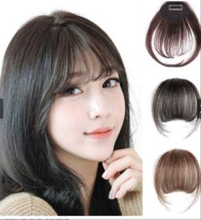 Tóc giả mái thưa siêu dễ thương Hàn Quốc ( MÀU NÂU TỐI ) thumbnail