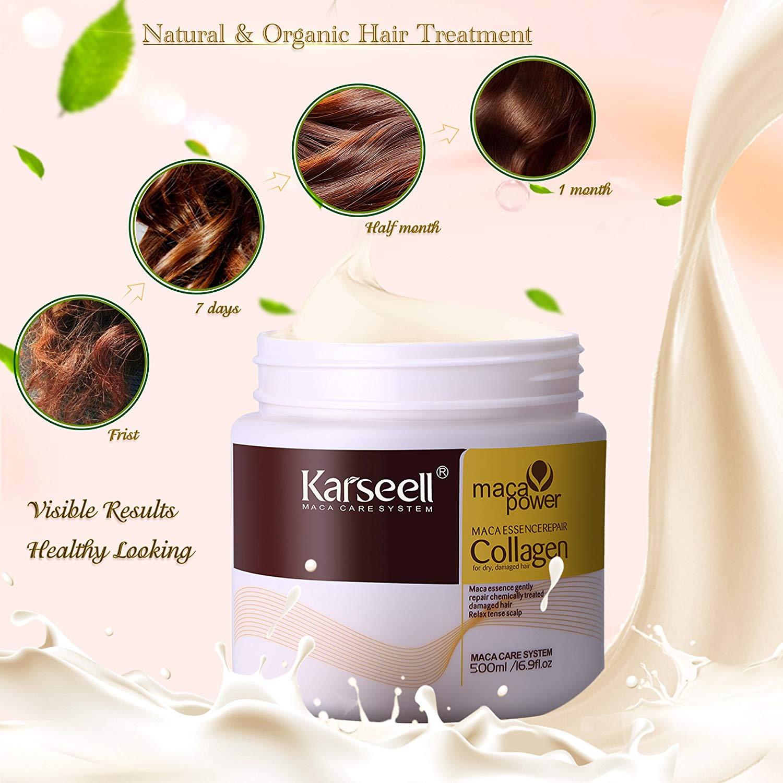 [ Karseell Chính Hãng ] Ủ Tóc - Kem Ủ Phục Hồi Collagen Karsell Hũ sang trọng 500ml