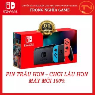 Máy Nintendo Switch V2 NEON+ 12 tháng bảo hành + Tặng Dán Cường Lực thumbnail