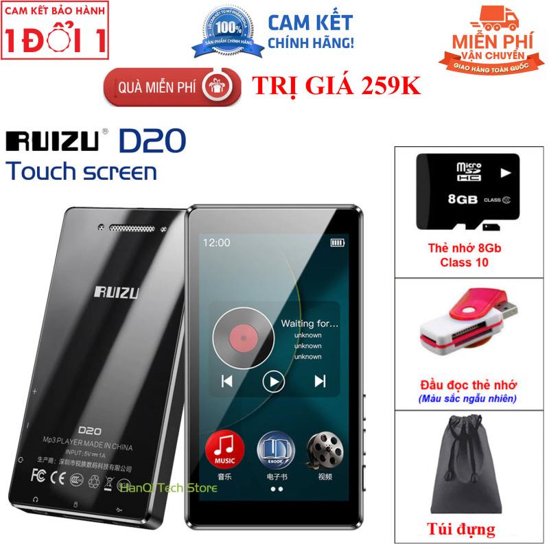 Quà Tặng Đặc Biệt Hấp Dẫn - Máy nghe nhạc Lossless màn hình cảm ứng Ruizu D20 - Máy nghe nhạc Mp3/Mp4 Ruizu D20 hỗ trợ xem video độ phân giải Full HD 1080P