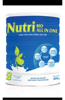 Sữa Nutri Bio All in One số 2 loại 400g cho trẻ 1-3 tuổi, Công thức dinh dưỡng tiên tiến, thuần khiết, tự nhiên thumbnail
