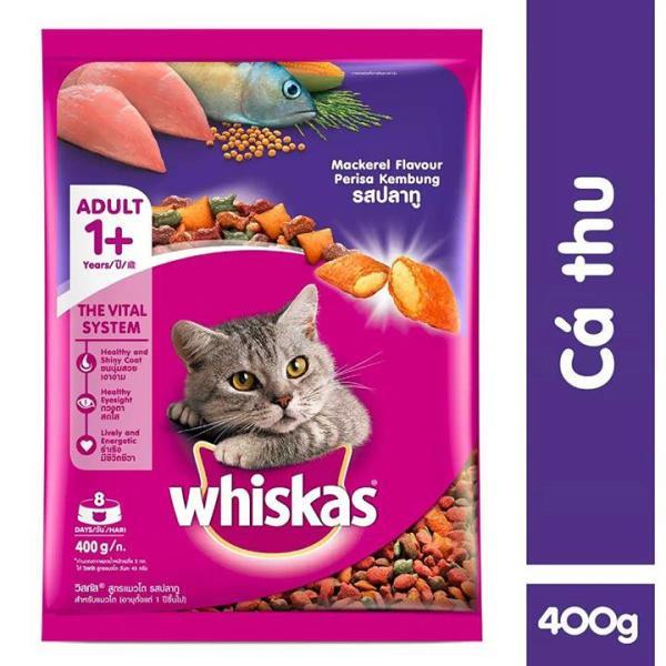Thức Ăn Mèo Lớn Whiskas Adult gói 400g