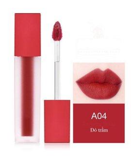 Son môi kem lì dưỡng mối cao cấp, không trôi, mềm, mẫu mới nhất siêu xinh siêu sang chanh - Thịnh Tửng Store Đỏ trầm A04 thumbnail
