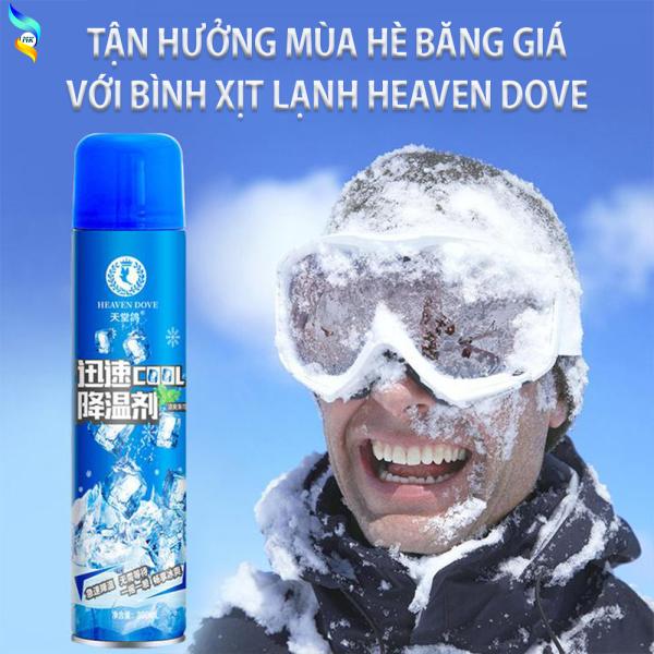 [Quá Mát] Bình Xịt Lạnh Siêu Tốc Heaven Dove, Bình Xịt Làm Lạnh Ô Tô Tức Thì, Chai Xịt Làm Mát Nội Thất Ô Tô, Làm Mát Cơ Thể, Giảm Đau Do Chấn.Thương. Chai Xịt Lạnh