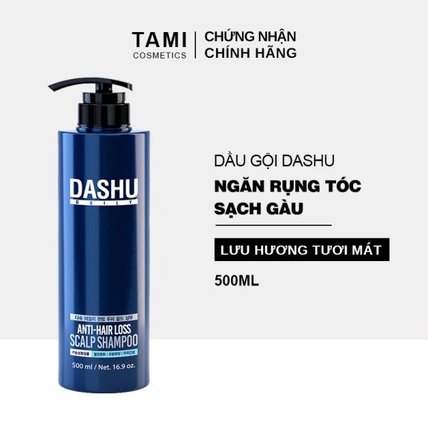 Dầu gội ngăn rụng tóc dành cho nam DASHU Anti - Hair Loss Scalp Shampoo Phục hồi tóc hư tổn Sạch gàu và ngứa dầu gội Hàn Quốc 500ml TM-DG01 nhập khẩu