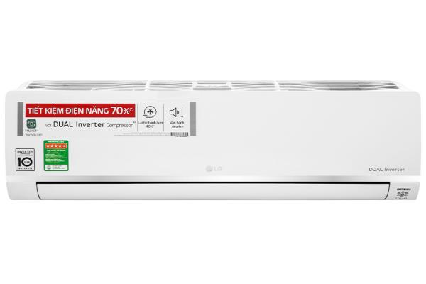 Máy lạnh LG Inverter 1 HP V10API1 - Công suất làm lạnh 9.200 BTU - Độ ồn trung bình 21/39 dB (A) - Tiêu thụ điện 0.77 kW/h