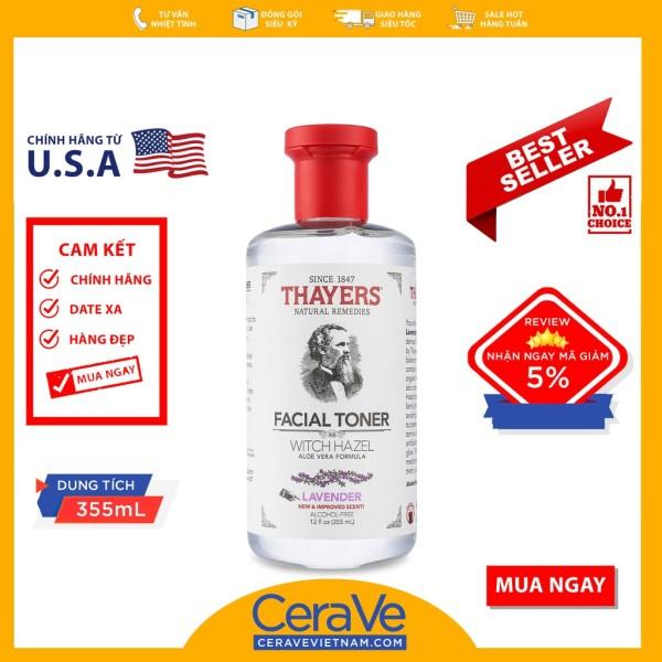 Thayers Lavender Facial Toner - Nước hoa hồng kiểm soát dầu (355mL) nhập khẩu