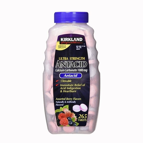 [ DATE T6.2023 ] Kẹo chống đầy hơi Kirkland Signature Ultra Strength Antacid Calcium 1000mg 265 viên