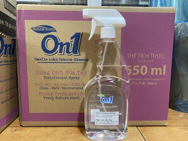 Nước rửa tay sát khuẩn On1 650ml Làm Sạch Và Diệt Khuẩn Trên Mọi Bề Mặt cao cấp