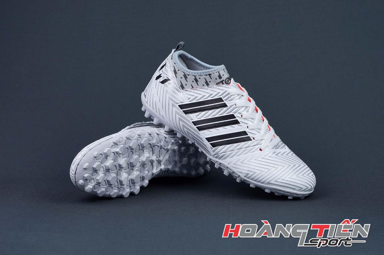 Giày Đá Bóng Sân Cỏ Nhân Tạo Messi Cổ Cao màu bạc - 1
