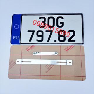 Bộ khung biển số ô tô theo kích thước mới có logo trang trí khung gò giá 1 chiếc thumbnail