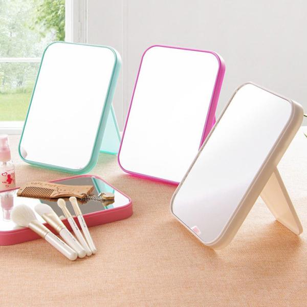 Gương trang điểm để bàn chân chữ T, đồ dùng gia đình, gương soi cá nhân, gương trang điểm (SCM04), tuancua