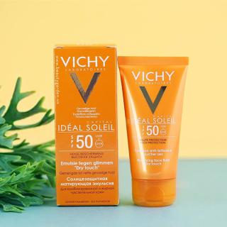 Kem Chống Nắng Vichy Ideal Soleil Bảo Vệ Da Mặt, Không Gây Nhờn Rít SPF50, PA+++ 50ml thumbnail
