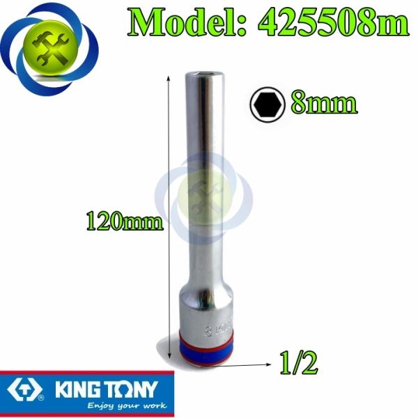 Tuýp 8mm dài 120mm loại 1/2 có 6 cạnh Kingtony 425508M