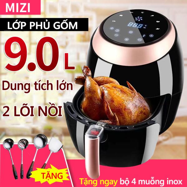Nồi chiên không dầu MIZI 9 lít PD-1799A Đài Loan 220V công suất 1500W bảng điều khiển thông minh Điện máy bé XANH