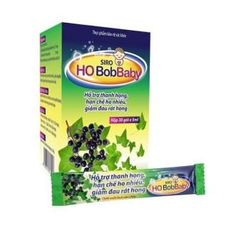 SIRO HO BOBBABY Hỗ trợ giảm ho khan, ho lâu ngày do viêm họng, viêm phế quản (Hộp 30 gói) thumbnail