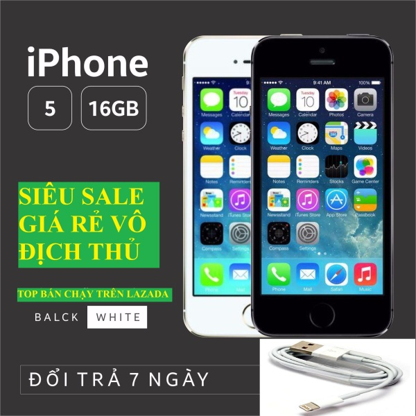 điện thoại Iphone5 32G Chính Hãng - bản Quốc tế, Full Chức năng, Bh 12 tháng