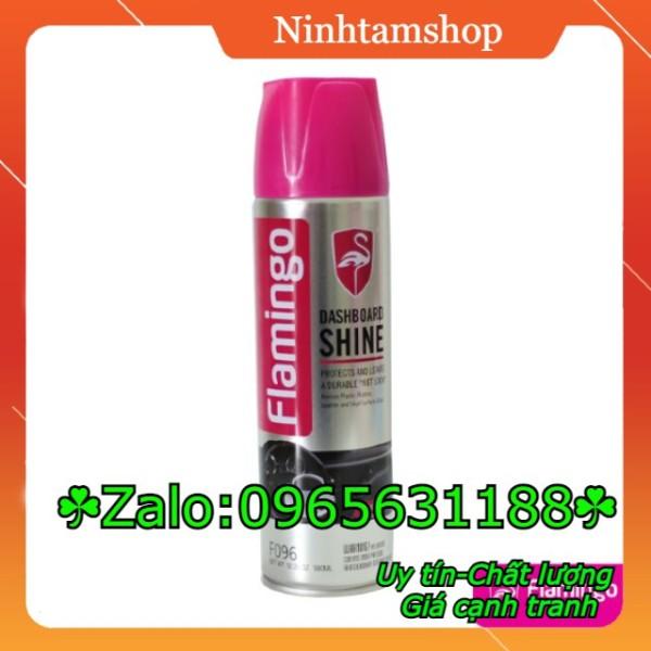 Flamingo - Chai xịt dưỡng bóng bảo vệ da và đồ nội thất Flamingo 500ml - Mùi cà phê