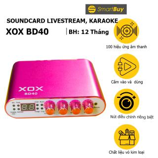 Sound card livestream kỹ thuật số XOX BD40 100 hiệu ứng âm thanh - 4 chế độ làm việc điều khiển từ xa cho điện thoại và PC - Hàng chính hãng thumbnail
