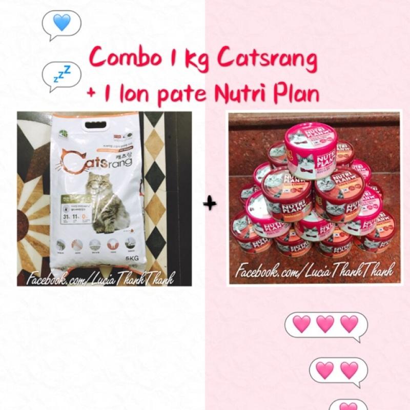 Combo 1 kg hth Catsrang + 1 lon pate Nutri Plan 160gr