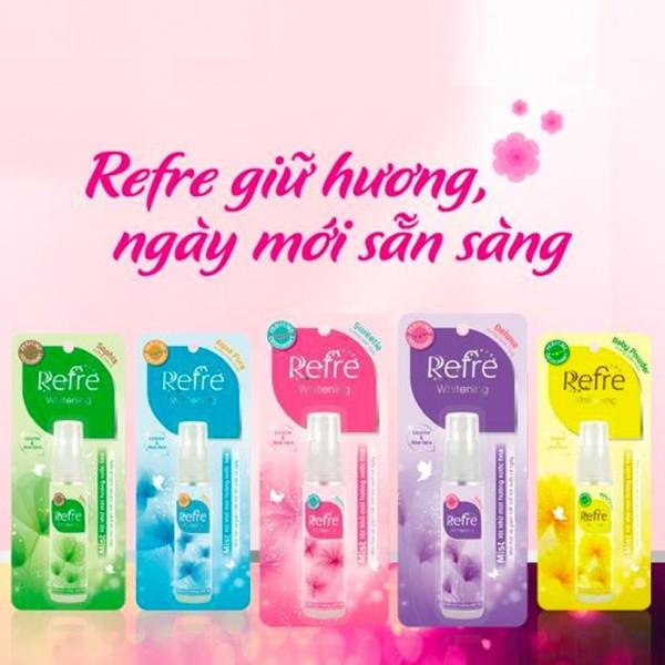 Xịt khử mùi dưỡng trắng da hương nước hoa Mentholatum Refre 30ml