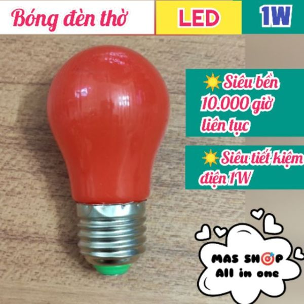 Đèn LED bàn thờ, Đèn LED chanh dạng bầu 1W siêu bền, siêu tiết kiệm điện