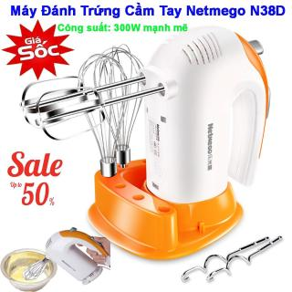 Máy đánh trứng cầm tay Netmego N38D 300W, máy đánh trứng công suất lớn, Máy đánh trứng cầm tay nhập khẩu, Máy đánh trứng cầm tay chính hãng, kiểu dáng hiện đại, Cam kết đổi mới sản phẩm nếu bị lỗi trên toàn quốc. MSP 207 thumbnail