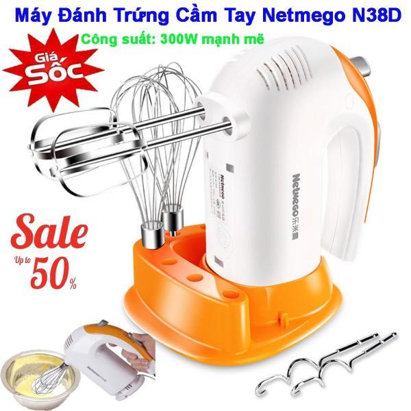 Máy đánh trứng cầm tay Netmego N38D 300W, máy đánh trứng công suất lớn, Máy đánh trứng cầm tay nhập khẩu, Máy đánh trứng cầm tay chính hãng, kiểu dáng hiện đại, Cam kết đổi mới sản phẩm nếu bị lỗi trên toàn quốc. MSP 207