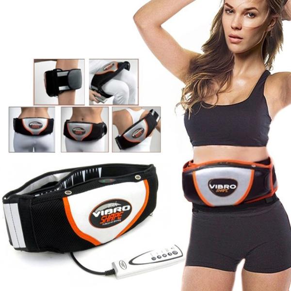 Đai massage bụng Vibro Shape 2 chế độ quấn nóng và lạnh, rung mạnh nhanh chóng đánh tan mỡ bụng,