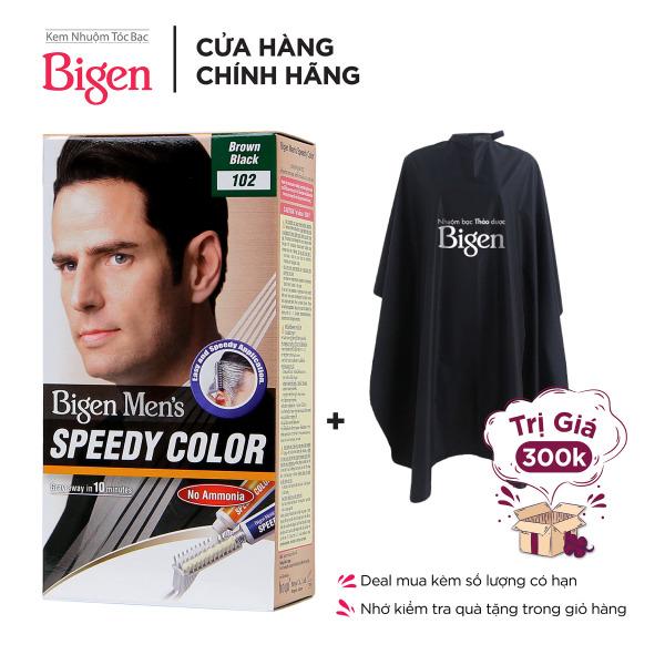 Thuốc Nhuộm Tóc phủ bạc dạng kem Cho Nam Giới Bigen Men's Speedy Color 80ml