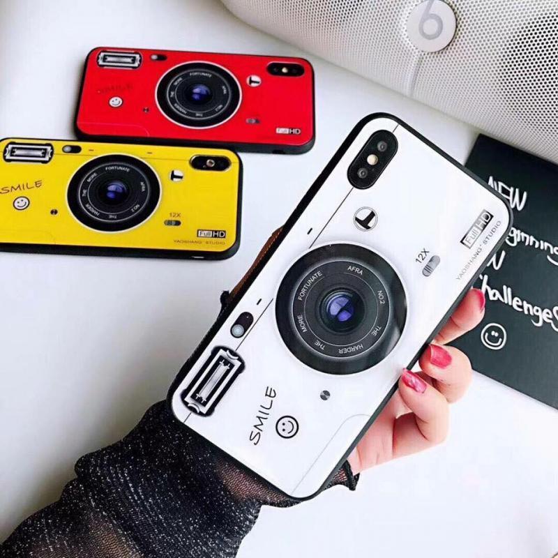 Giá [MUA 5 TẶNG 1] _ Ốp lưng iphone in hình máy ảnh tặng kèm iring - giá đỡ điện thoại siêu xinh đủ các dòng iphone 5/5s/6plus/6splus/7/8/7plus/8plus/X - Giao màu ngẫu nhiên