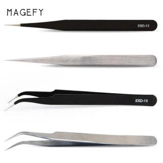 MAGEFY Nhíp gắp lông mi giả bằng thép không gỉ chống tĩnh điện tiện dụng - INTL thumbnail