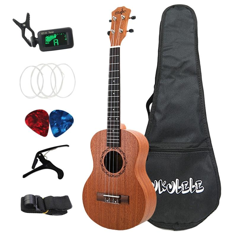 26 Inch Ukelele Tenor Sapele Acoustic Guitaar Mini Hawaii Full Kits Ukulele Guitar for Beginner Kids