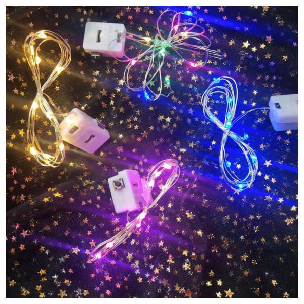 Bảng giá Đèn LED Đom Đóm Fairylight Trang Trí Decor Nhà Cửa - Có 3 Chế Độ - Kèm Sẵn Pin (1 mét / 2 mét)