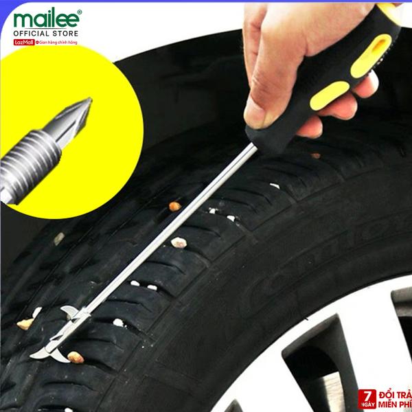 Dụng cụ móc lốp xe, lấy đinh gảy đinh, làm sạch lốp 2 in 1 với đầu tua vít Mai Lee
