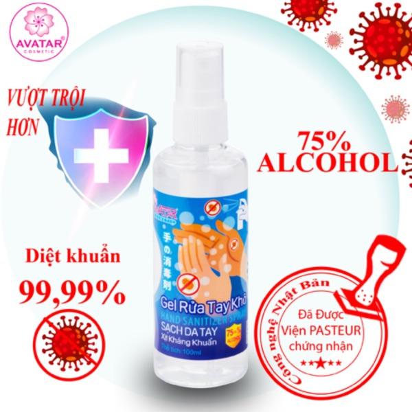 Gel rửa tay khô AVATAR - Xịt kháng khuẩn - Dạng xịt - 75% CỒN (100ml) nhập khẩu