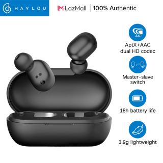 Haylou GT1 Plus Tai nghe không dây cảm ứng điều khiển bluetooth 5.0 TWS sử dụng chip Qualcomm QCC 3020 và giải mã HD kép Aptx+AAC mang lại âm thanh chân thực và loại bỏ tiếng ồn (Tặng kèm ốp silicon) - INTL thumbnail