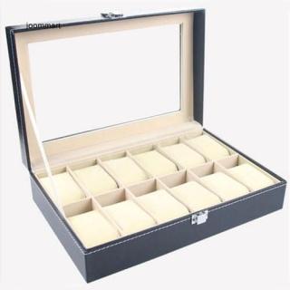 hộp đựng đồng 12 Ô Cho Nữ, Khe 3 Ngăn Bằng Da PU Với Khóa, Lưu Trữ Đồ Trang Sức Tổ Chức Hộp Đồng Hồ Bao Bì Trưng Bày Vòng Đeo Tay thumbnail
