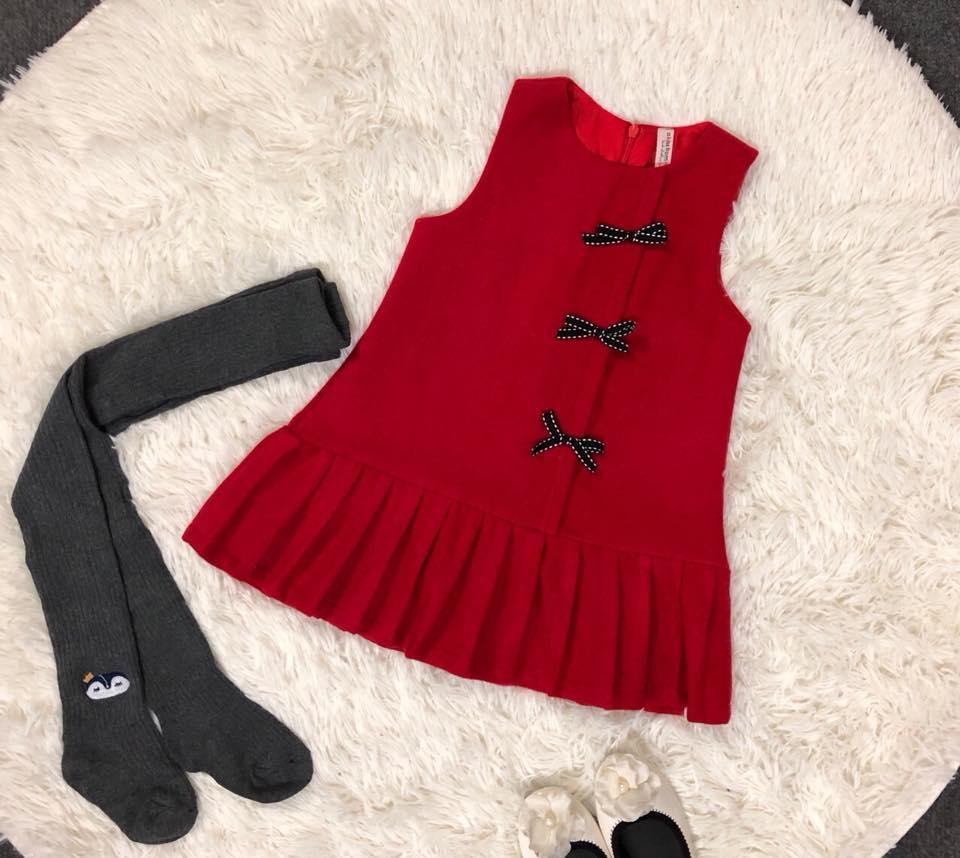 Đầm dạ cho bé - hàng thiết kế size 2-7 tuổi
