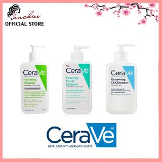 Sữa rửa mặt Cerave Foaming Facial Cleanser Cho DA KHÔ VÀ DA DẦU. Nhẹ nhàng lấy đi bụi bẩn, dầu thừa thumbnail