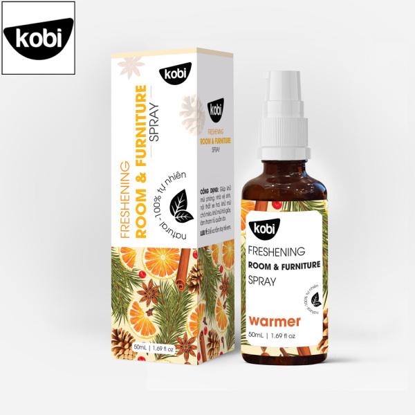 Tinh dầu xịt phòng khử khuẩn Warmer Kobi giúp thơm phòng, đuổi muỗi, thơm quần áo, khử mùi hôi giày, ô tô hiệu quả cao cấp
