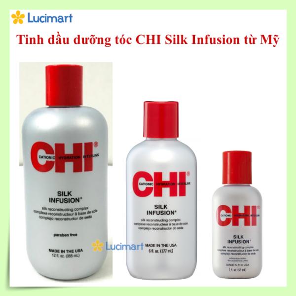 Tinh dầu dưỡng tóc CHI Silk Infusion [Hàng Mỹ]