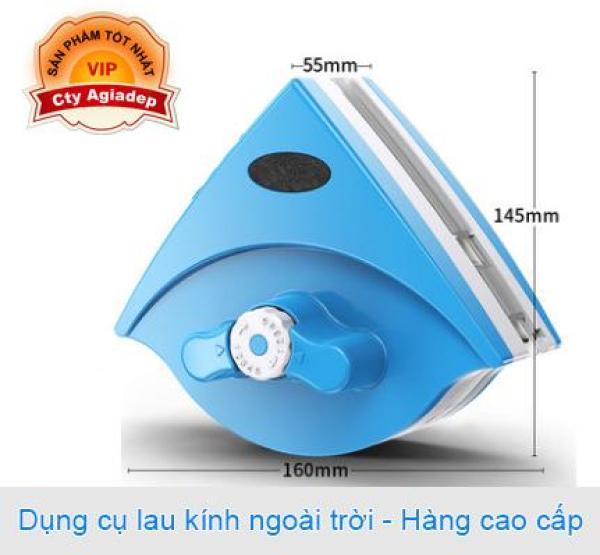 Dụng cụ Lau kính Ngoài trời X1 - Hàng cao cấp - Hút nam châm, không lo rơi ngã (Màu xanh Blue)